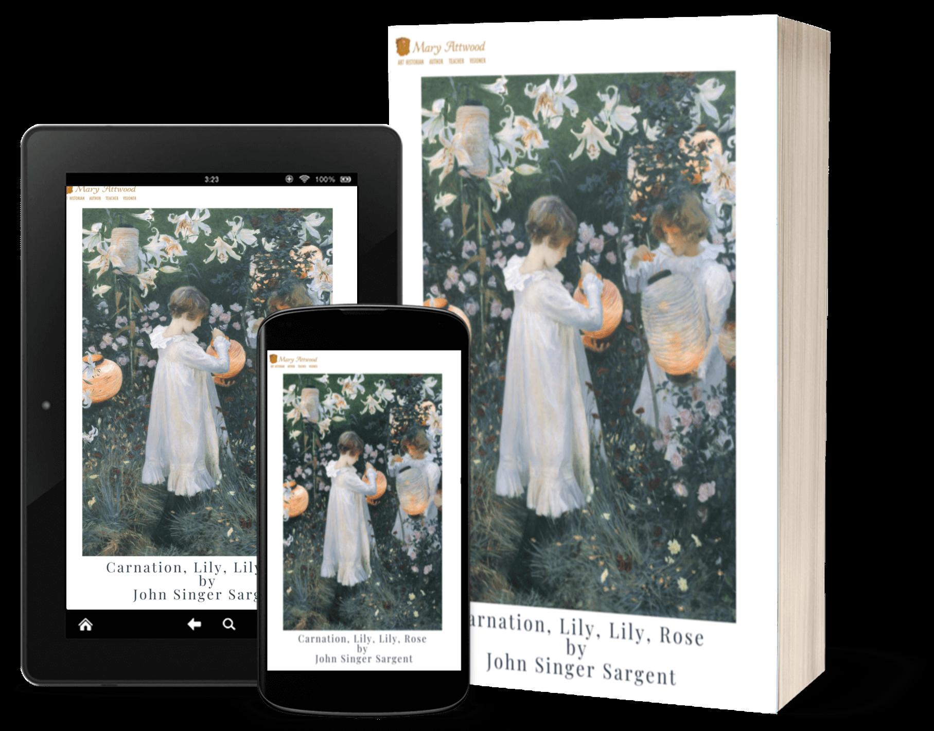 Carnation, Lily, Lily, Rose Singer Sargent